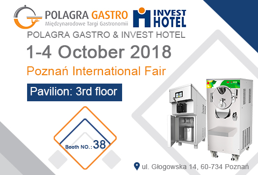 1-4th OCTOBER 2018 - POLAGRA GASTRO & INVEST HOTE – Poznan International Fair (POLAND)